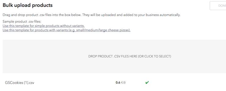 Bulk Upload Status